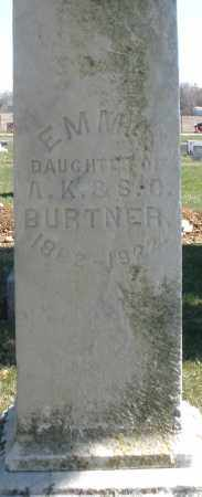 BURTNER, EMMA - Montgomery County, Ohio | EMMA BURTNER - Ohio Gravestone Photos