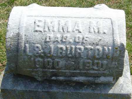 BURTON, EMMA M - Montgomery County, Ohio | EMMA M BURTON - Ohio Gravestone Photos