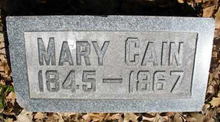 CAIN, MARY - Montgomery County, Ohio | MARY CAIN - Ohio Gravestone Photos