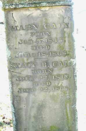 CAIN, STACY B. - Montgomery County, Ohio | STACY B. CAIN - Ohio Gravestone Photos