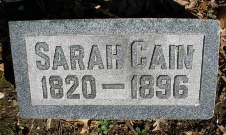 CAIN, SARAH - Montgomery County, Ohio | SARAH CAIN - Ohio Gravestone Photos