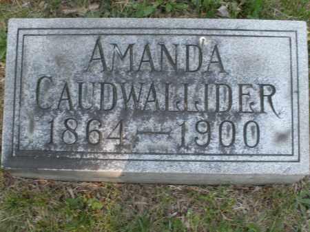 CALDWALLIDER, AMANDA - Montgomery County, Ohio | AMANDA CALDWALLIDER - Ohio Gravestone Photos