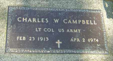 CAMPBELL, CHARLES WELLER - Montgomery County, Ohio | CHARLES WELLER CAMPBELL - Ohio Gravestone Photos