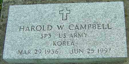 CAMPBELL, HAROLD W - Montgomery County, Ohio | HAROLD W CAMPBELL - Ohio Gravestone Photos