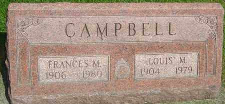 CAMPBELL, FRANCES M - Montgomery County, Ohio | FRANCES M CAMPBELL - Ohio Gravestone Photos