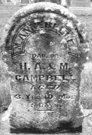CAMPBELL, M. ANNEBELLE - Montgomery County, Ohio | M. ANNEBELLE CAMPBELL - Ohio Gravestone Photos