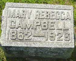 CAMPBELL, MARY REBECCA - Montgomery County, Ohio | MARY REBECCA CAMPBELL - Ohio Gravestone Photos