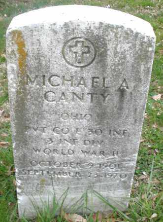 CANTY, MICHAEL A. - Montgomery County, Ohio | MICHAEL A. CANTY - Ohio Gravestone Photos