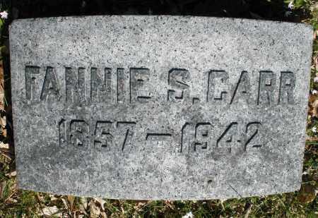 CARR, FANNIE S. - Montgomery County, Ohio | FANNIE S. CARR - Ohio Gravestone Photos