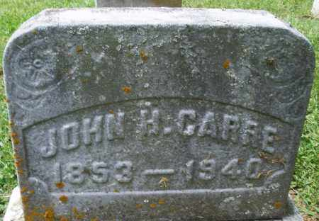 CARRE, JOHN H. - Montgomery County, Ohio | JOHN H. CARRE - Ohio Gravestone Photos