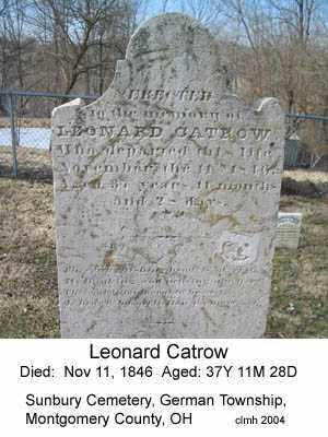 CATROW, LEONARD - Montgomery County, Ohio | LEONARD CATROW - Ohio Gravestone Photos