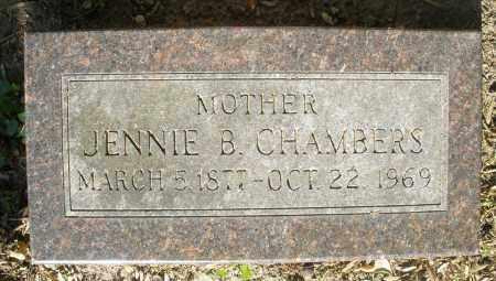 CHAMBERS, JENNIE B. - Montgomery County, Ohio | JENNIE B. CHAMBERS - Ohio Gravestone Photos