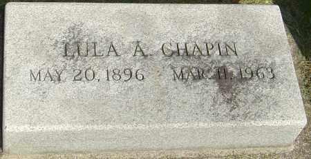 CHAPIN, LULA A - Montgomery County, Ohio | LULA A CHAPIN - Ohio Gravestone Photos