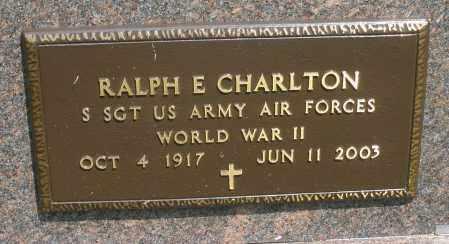 CHARLTON, RALPH E. - Montgomery County, Ohio | RALPH E. CHARLTON - Ohio Gravestone Photos