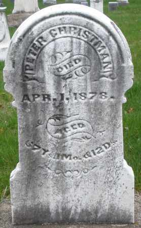 CHRISTMAN, PETER - Montgomery County, Ohio   PETER CHRISTMAN - Ohio Gravestone Photos