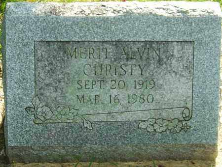 "CHRISTY, MERIT ALVIN ""AL"" - Montgomery County, Ohio 