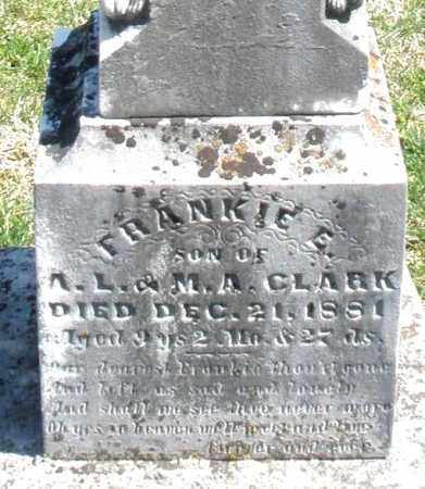 CLARK, FRANKIE - Montgomery County, Ohio | FRANKIE CLARK - Ohio Gravestone Photos
