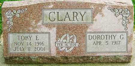 CLARY, TOBY E - Montgomery County, Ohio | TOBY E CLARY - Ohio Gravestone Photos