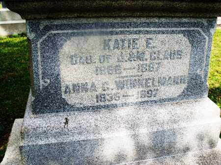 CLAUS, KATIE E. - Montgomery County, Ohio | KATIE E. CLAUS - Ohio Gravestone Photos