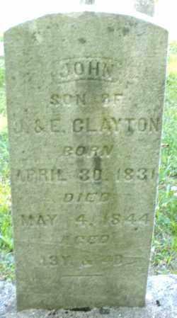 CLAYTON, JOHN - Montgomery County, Ohio | JOHN CLAYTON - Ohio Gravestone Photos