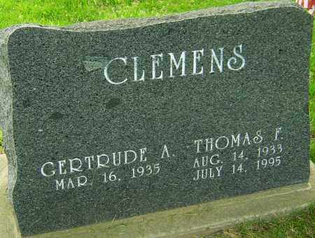 CLEMENS, THOMAS F - Montgomery County, Ohio | THOMAS F CLEMENS - Ohio Gravestone Photos
