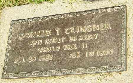CLINGNER, DONALD T - Montgomery County, Ohio | DONALD T CLINGNER - Ohio Gravestone Photos