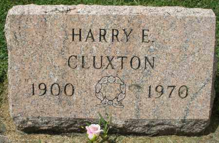 CLUXTON, HARRY E. - Montgomery County, Ohio   HARRY E. CLUXTON - Ohio Gravestone Photos