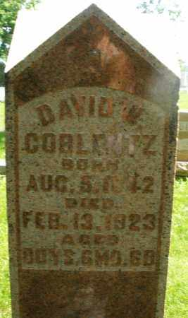 COBLENTZ, DAVID W. - Montgomery County, Ohio | DAVID W. COBLENTZ - Ohio Gravestone Photos