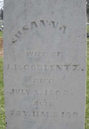 COBLENTZ, SUSANNA - Montgomery County, Ohio | SUSANNA COBLENTZ - Ohio Gravestone Photos