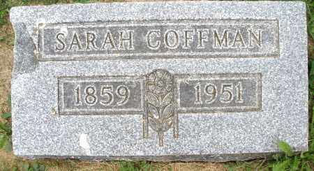 COFFMAN, SARAH - Montgomery County, Ohio | SARAH COFFMAN - Ohio Gravestone Photos