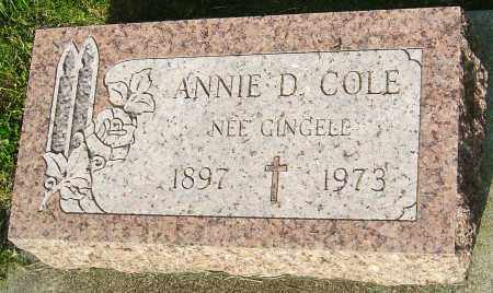 COLE, ANNIE D - Montgomery County, Ohio | ANNIE D COLE - Ohio Gravestone Photos