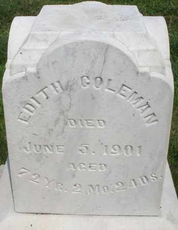 COLEMAN, EDITH - Montgomery County, Ohio | EDITH COLEMAN - Ohio Gravestone Photos
