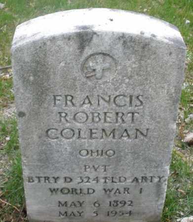 COLEMAN, FRANCIS ROBERT - Montgomery County, Ohio | FRANCIS ROBERT COLEMAN - Ohio Gravestone Photos