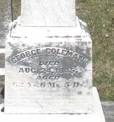 COLEMAN, GEORGE - Montgomery County, Ohio | GEORGE COLEMAN - Ohio Gravestone Photos
