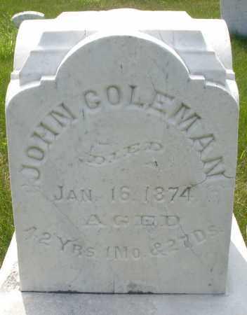 COLEMAN, JOHN - Montgomery County, Ohio | JOHN COLEMAN - Ohio Gravestone Photos