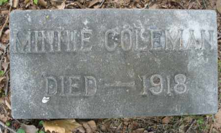 COLEMAN, MINNIE - Montgomery County, Ohio | MINNIE COLEMAN - Ohio Gravestone Photos
