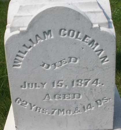 COLEMAN, WILLIAM - Montgomery County, Ohio | WILLIAM COLEMAN - Ohio Gravestone Photos