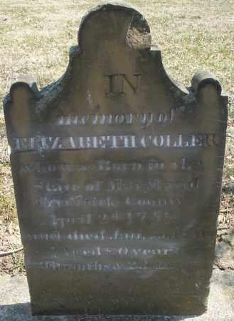 COLLER, ELIZABETH - Montgomery County, Ohio | ELIZABETH COLLER - Ohio Gravestone Photos