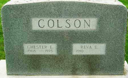 COLSON, CHESTER E - Montgomery County, Ohio | CHESTER E COLSON - Ohio Gravestone Photos