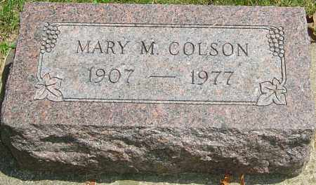 COLSON, MARY M - Montgomery County, Ohio | MARY M COLSON - Ohio Gravestone Photos