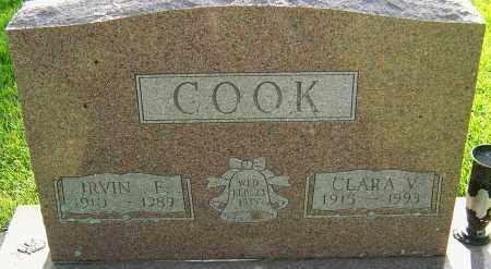 COOK, IRVIN E - Montgomery County, Ohio | IRVIN E COOK - Ohio Gravestone Photos