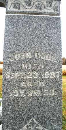 COOK, JOHN - Montgomery County, Ohio | JOHN COOK - Ohio Gravestone Photos