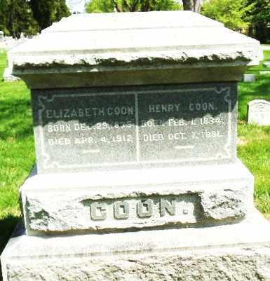 COON, ELIZABETH - Montgomery County, Ohio | ELIZABETH COON - Ohio Gravestone Photos