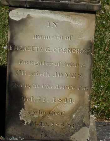 CORNCROSS, ELIZABETH C. - Montgomery County, Ohio | ELIZABETH C. CORNCROSS - Ohio Gravestone Photos
