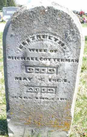 COTTERMAN, ELIZABETH - Montgomery County, Ohio | ELIZABETH COTTERMAN - Ohio Gravestone Photos