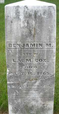 COX, BENJAMIN M. - Montgomery County, Ohio | BENJAMIN M. COX - Ohio Gravestone Photos