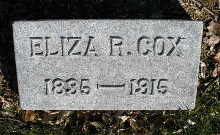 COX, ELIZA R. - Montgomery County, Ohio | ELIZA R. COX - Ohio Gravestone Photos
