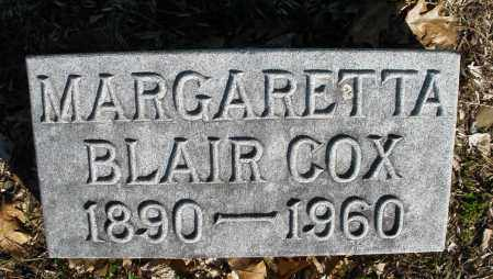 BLAIR COX, MARGARETTA - Montgomery County, Ohio | MARGARETTA BLAIR COX - Ohio Gravestone Photos