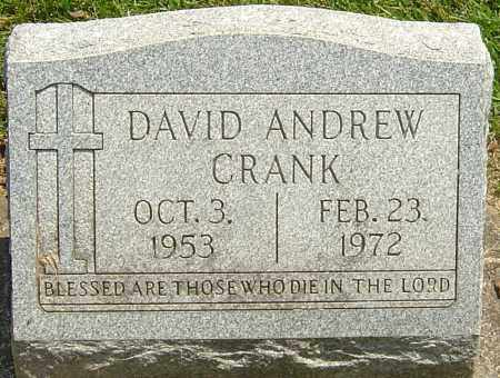 CRANK, DAVID ANDREW - Montgomery County, Ohio | DAVID ANDREW CRANK - Ohio Gravestone Photos