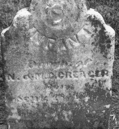 CREAGER, INFANT GIRL - Montgomery County, Ohio | INFANT GIRL CREAGER - Ohio Gravestone Photos